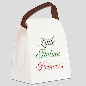 Little Italian Princess Canvas Lunch Bag