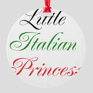 Little Italian Princess Round Ornament
