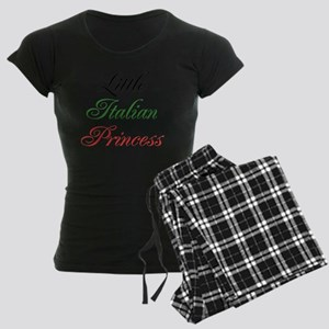 Little Italian Princess Women's Dark Pajamas