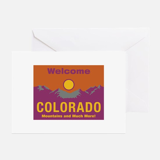 Welcome to Colorado - USA Greeting Cards (Package