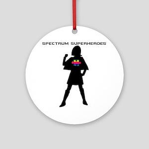 SpectrumSuperHeroV1 Round Ornament
