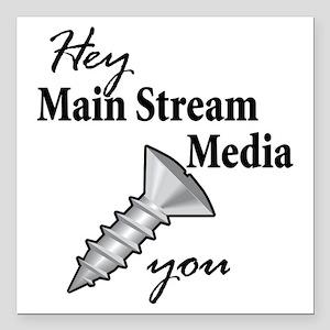 "main_stream_screw Square Car Magnet 3"" x 3"""