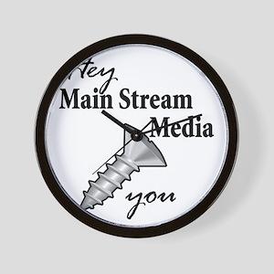 main_stream_screw Wall Clock
