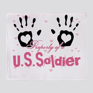 new property of us soldier Throw Blanket