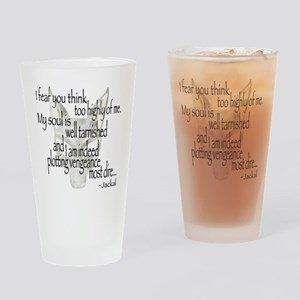 Jackalquotewhite Drinking Glass