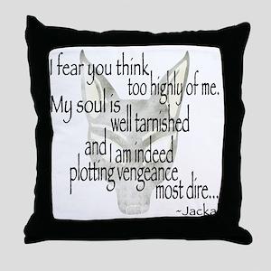 Jackalquotewhite Throw Pillow