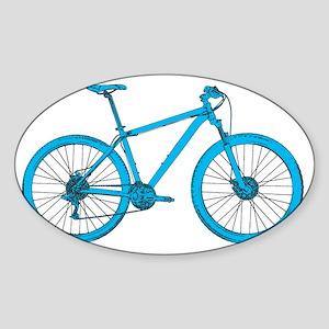 Light Blue Hardtail Sticker (Oval)