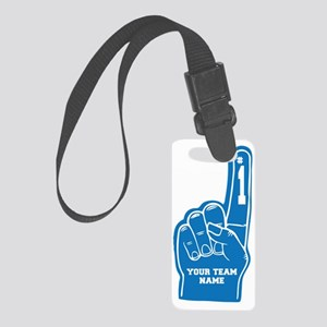 YourTeamName_FoamFinger_Blue Small Luggage Tag