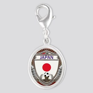 Japan Soccer Keepsake Box Silver Oval Charm