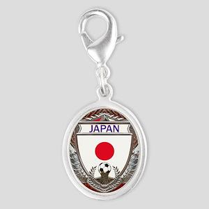 Japan Soccer Keepsake Box Silver Oval Charm