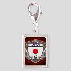 Japan Soccer Keepsake Box Silver Portrait Charm