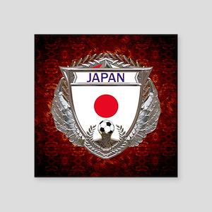 "Japan Soccer Keepsake Box Square Sticker 3"" x 3"""