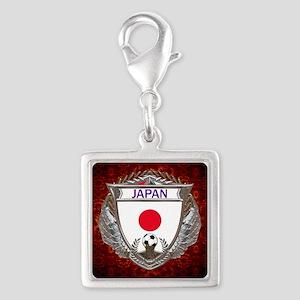 Japan Soccer Keepsake Box Silver Square Charm