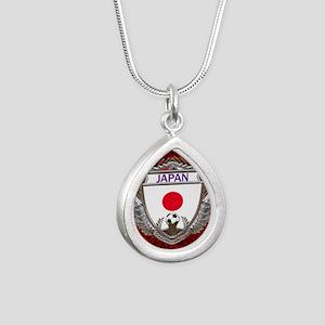 Japan Soccer Keepsake Bo Silver Teardrop Necklace