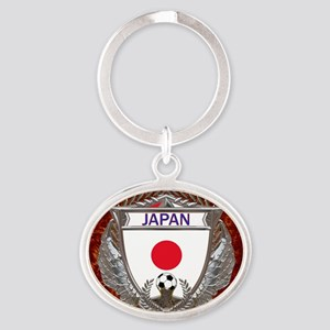 Japan Soccer Keepsake Box Oval Keychain