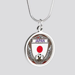 Japan Soccer Keepsake Box Silver Round Necklace