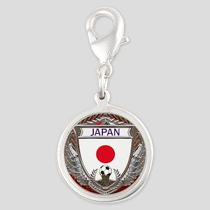 Japan Soccer Keepsake Box Silver Round Charm
