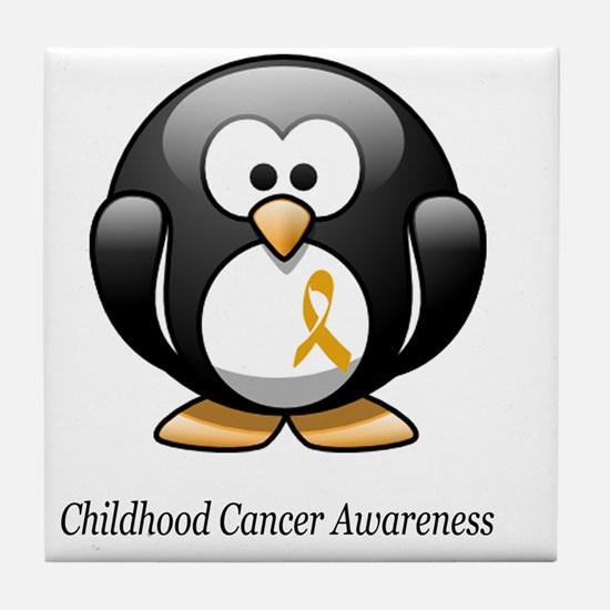 2-childhood cancer awareness tee Tile Coaster