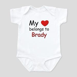 My heart belongs to brady Infant Bodysuit