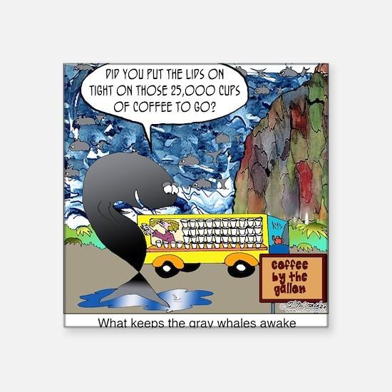 "6632_whale_cartoon Square Sticker 3"" x 3"""