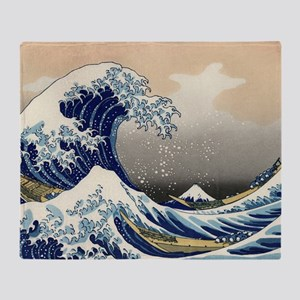 the_great_wave_off_kanagawa Throw Blanket