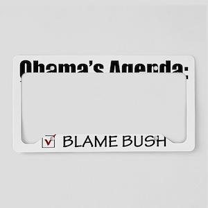 Obamas-Agenda-(white-shirt) License Plate Holder