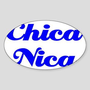 Chica Nica cp Sticker (Oval)