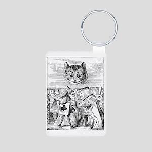 Disembodied Cheshire Cat Aluminum Photo Keychain