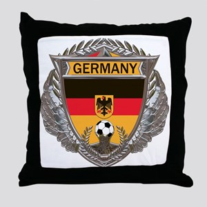 German Soccer Gym Bag Throw Pillow