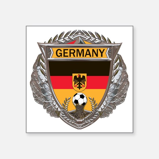 "German Soccer Gym Bag Square Sticker 3"" x 3"""