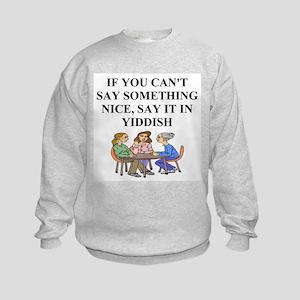 jewish yiddish wisdom Kids Sweatshirt