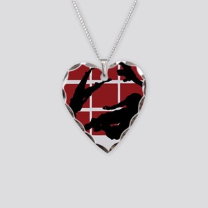 Parkour edge B Necklace Heart Charm