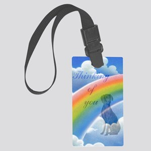 Weimaraner sympathy card 2 Large Luggage Tag