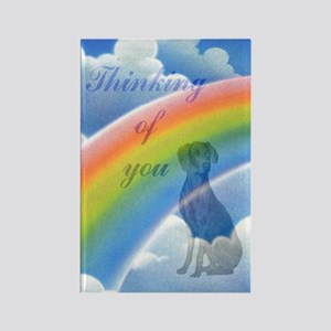 Weimaraner sympathy card 2 Rectangle Magnet