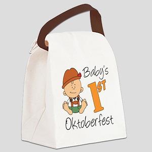 Babys First Oktoberfest Canvas Lunch Bag