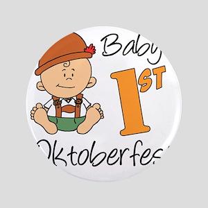 """Babys First Oktoberfest 3.5"""" Button"""
