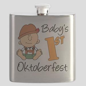 Babys First Oktoberfest Flask