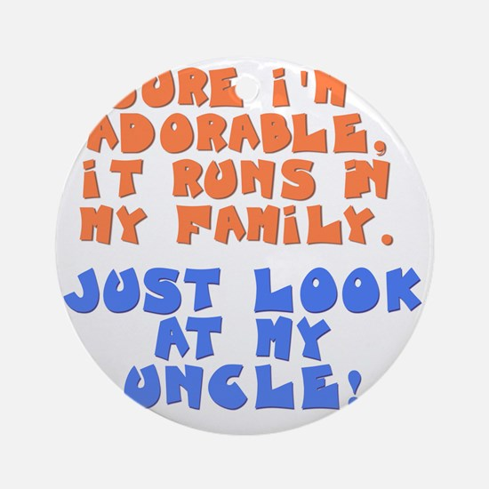 runs-in-family-uncle Round Ornament