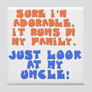 runs-in-family-uncle Tile Coaster