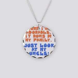 runs-in-family-uncle Necklace Circle Charm