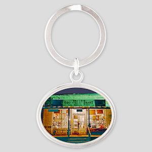 Taylor Grocery Oval Keychain