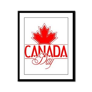 Canada Day Framed Panel Print