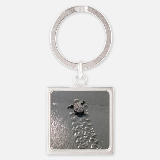 Baby Turtle Square Keychain