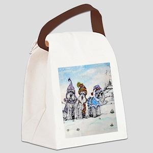 Christmas 4.5x5.75 Canvas Lunch Bag