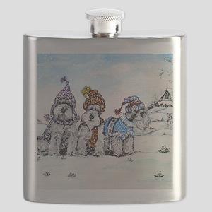 Christmas 4.5x5.75 Flask