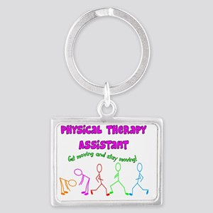 Physical Therapy Assistant Landscape Keychain