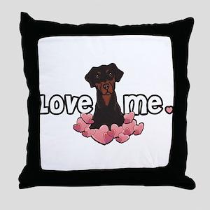 Love Me Doberman Throw Pillow