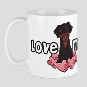 Love Me Doberman Mug