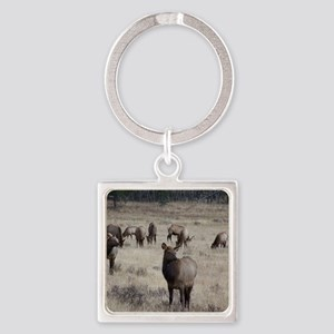 Elk Square Keychain