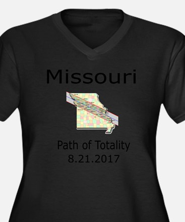 Cute Missouri Women's Plus Size V-Neck Dark T-Shirt